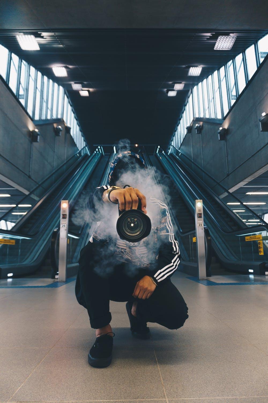 Kamera og røg